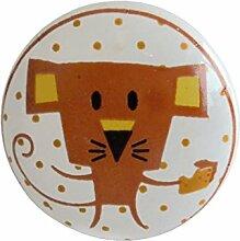 Kinder Knauf orange MAUS Comic Keramik Möbelgriff