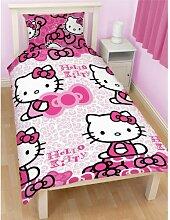Kinder Mädchen Hello Kitty Bettwäsche-Set,