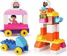 Kinder montiert Gebäude Spielzeug Spielplatz Home Szene Puzzle Erleuchtung Bausteine 41