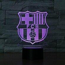 Kinder nachtlicht,Fußballmannschaft FCB3D Lampe