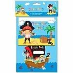 Kinder Party–Jungen –-Piraten Party –-(10Party Einladungen & 10Partytüten)