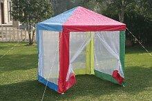 Kinder-Pavillon quadratisch + 4Mosquito-Wände, 1,5m x 1,5m