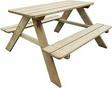 Kinder-Picknicktisch mit Bänken für Kinder,