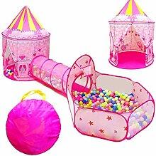 Kinder Pop-up-Spiel Zelt 3-teiliges Set Mädchen