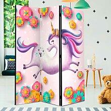 Kinder Raumteiler mit Einhorn Motiv Bunt