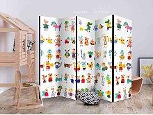 Kinder Raumteiler mit kindlichen Tier Motiven 225