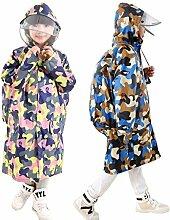 Kinder Regenmantel Regenjacke mit Kapuze für