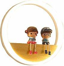 Kinder Ring Acryl Holz-LED Wandleuchte 18W Jungen