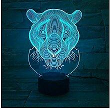 Kinder S Lampe 3D Löwe Nachtlicht Farben 3D Lampe