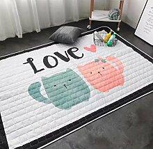 Kinder-Schlafzimmer-Teppich für Kinder Wasserdichter weißer Cartoon-Anime-Wolldecke , white5 , 140x200cm
