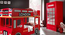 Kinder-Schrank Paddington, rot