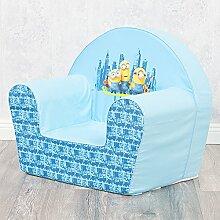 Kinder-Sessel LE BUDDIES Minions hellblau Kinder