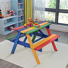 Kinder Sitzgruppe aus Holz Sitzgarnitur