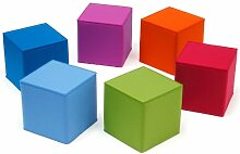 Kinder Sitzmöbel quadratisch Filz viele Farben Hey Sign QUART KID, Hey Sign_Farbe:30 - Maigrün