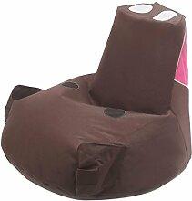 Kinder-Sitzsack, Bodenstuhl Spielstuhl Sofas, Lovely Piggy, Nach Demontage Waschen , Coffee