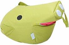 Kinder-Sitzsack, Bodenstuhl Spielstuhl Sofas, Lovely Piggy, Nach Demontage Waschen , Green