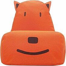 Kinder-Sitzsack, Bodenstuhl Spielstuhl Sofas, Nettes Baby, Nach Demontage Waschen , Orange