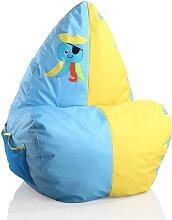 Kinder Sitzsack in Blau und Gelb Octopus Piraten