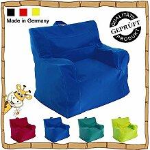 Kinder Sitzsack / Sitzkissen / Sessel / LazyBag / In- u. Outdoor geeignet / 42x50x51cm / dunkelblau