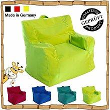 Kinder Sitzsack / Sitzkissen / Sessel / LazyBag / In- u. Outdoor geeignet / 42x50x51cm / grün (kiwi)