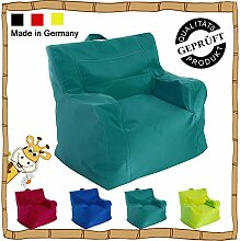 Kinder Sitzsack / Sitzkissen / Sessel / LazyBag / In- u. Outdoor geeignet / 42x50x51cm / petrol (türkis)