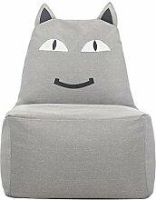 Kinder-Sitzsack, Sofas Bodenstuhl Spiel Stuhl, Lächelnde Katze, Nach Dem Ausbau Waschen , Gray