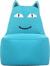 Kinder-Sitzsack, Sofas Bodenstuhl Spiel Stuhl, Lächelnde Katze, Nach Dem Ausbau Waschen , Blue