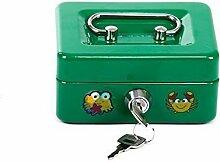 Kinder Spardose Spar Truhe Sparbüchse Geschenkidee Sparschwein Gelddose (grün)