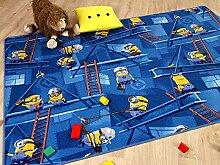 Kinder Spiel Teppich MINIONS Blau in 24 Größen