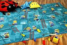 Kinder Spiel Teppich MINIONS Türkis in 24 Größen