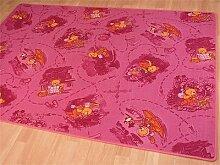 Kinder Spiel Teppich Rosa Bär in 24 Größen, Größe:80x160 cm