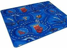 Kinder Spiel Teppich Walt Disney Cars Auto Blau