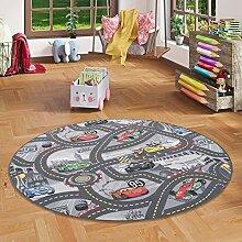 Kinder Spiel Teppich Walt Disney Cars Auto Grau