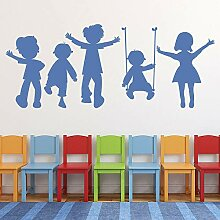 Kinder spielen Wandaufkleber Schule Klassenzimmer