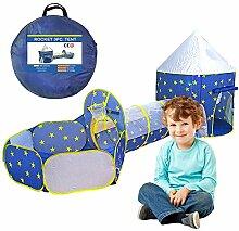Kinder spielen Zelt Tunnel 3 in 1, Pop-up Zelt