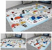 Kinder Spielmatte, Verkehr Parkplatz Karte Gamepad
