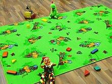Kinder Spielteppich Bärenwelt Grün Gelb in 24 Größen