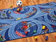 Kinder Spielteppich Disney Planes Blau Türkis in 24 Größen