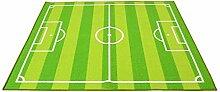 Kinder-Spielteppich, Heim-Fußballplatz-Teppich,