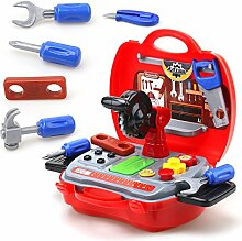 Kinder Spielzeug-Set 19-teilig mit stabilem Koffer