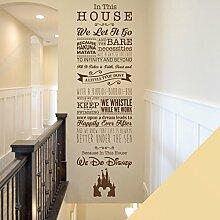 Kinder Spielzimmer Schlafzimmer Disney inspiriert Wandtattoo–Wir Do Disney–Tinkerbell, Toy Story, kleine Meerjungfrau, Der König der Löwen, cremefarben, X-Large (1800 x 550mm)