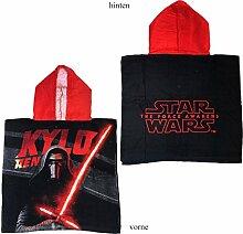 Kinder Star Wars Poncho Handtuch (Rot)