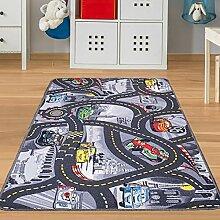 Kinder-Teppich Cars Grau - Spielteppich mit
