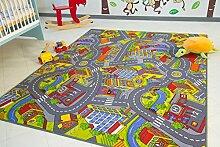 Kinder Teppich City - Straßen und Spiel Teppich,