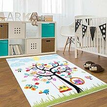 Kinder Teppich für das Kinderzimmer Öko Tex 100 2070 lustiger baum mit tieren 120x160 cm