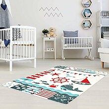 Kinder Teppich für das Kinderzimmer Öko Tex 100 5780 lustige tiere im wasser türkis 160x225 cm