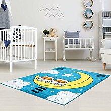 Kinder Teppich für das Kinderzimmer Öko Tex 100 5808 müde Eulen 160x225 cm