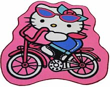Kinder Teppich Hello Kitty Fahrrad 94 X 86 cm