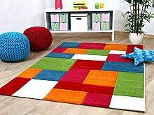 Kinder Teppich Savona Kids Karo Bunt Design