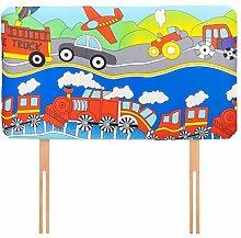 Kinder Transport Bettwäsche und Möbel Sammlung Kinderzimmer Kindergarten Spielzimmer - Headboard